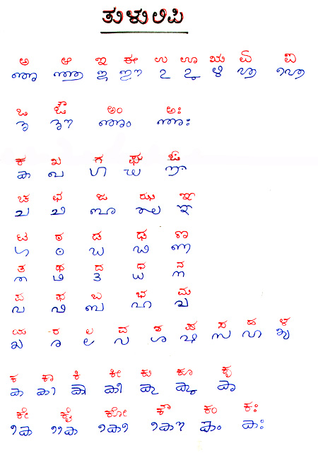 Tulu Script - Languages in Mangalore